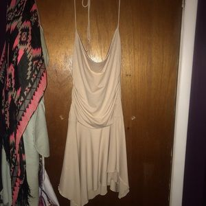 Gold shimmer halter dress